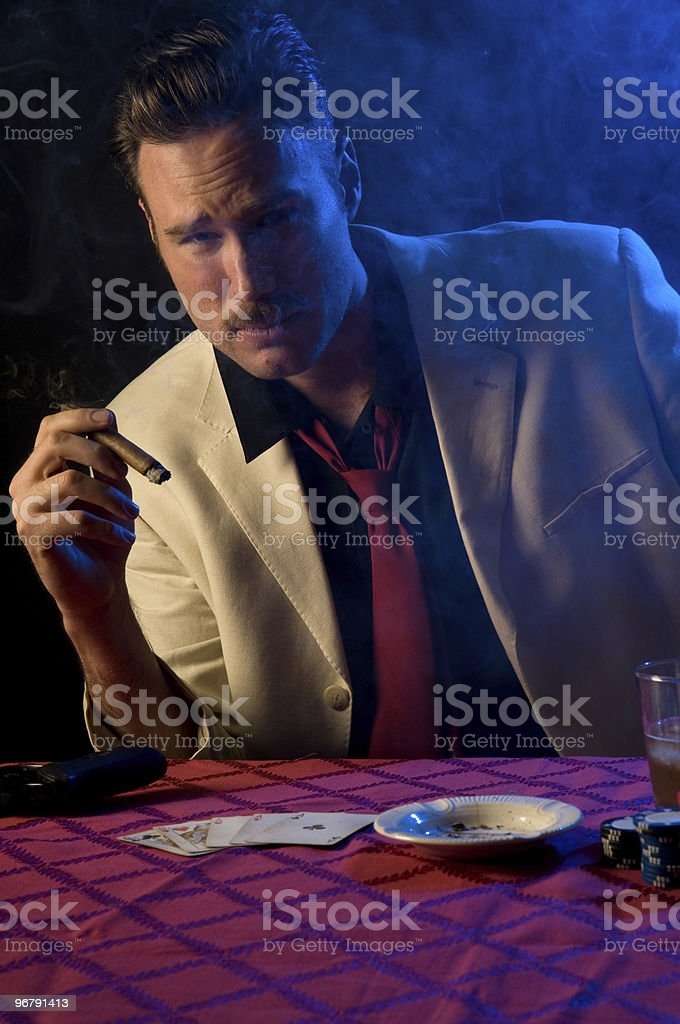 Gambler/Gangster royalty-free stock photo