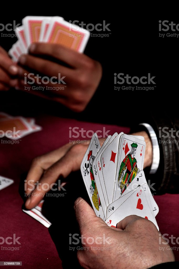gambling and card games stock photo