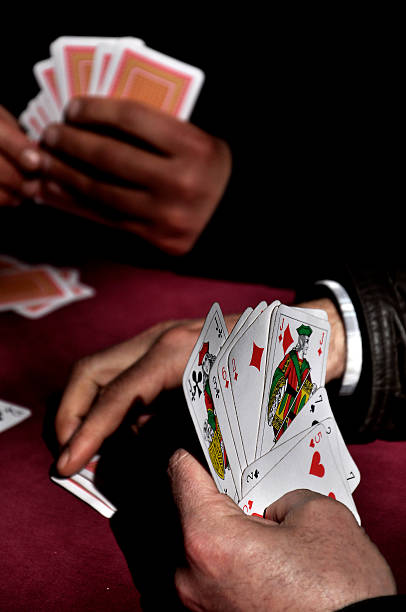 gambling and card games stock photo