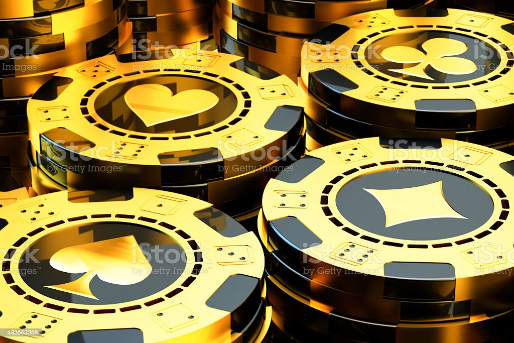 Gambling and casino concept stock photo
