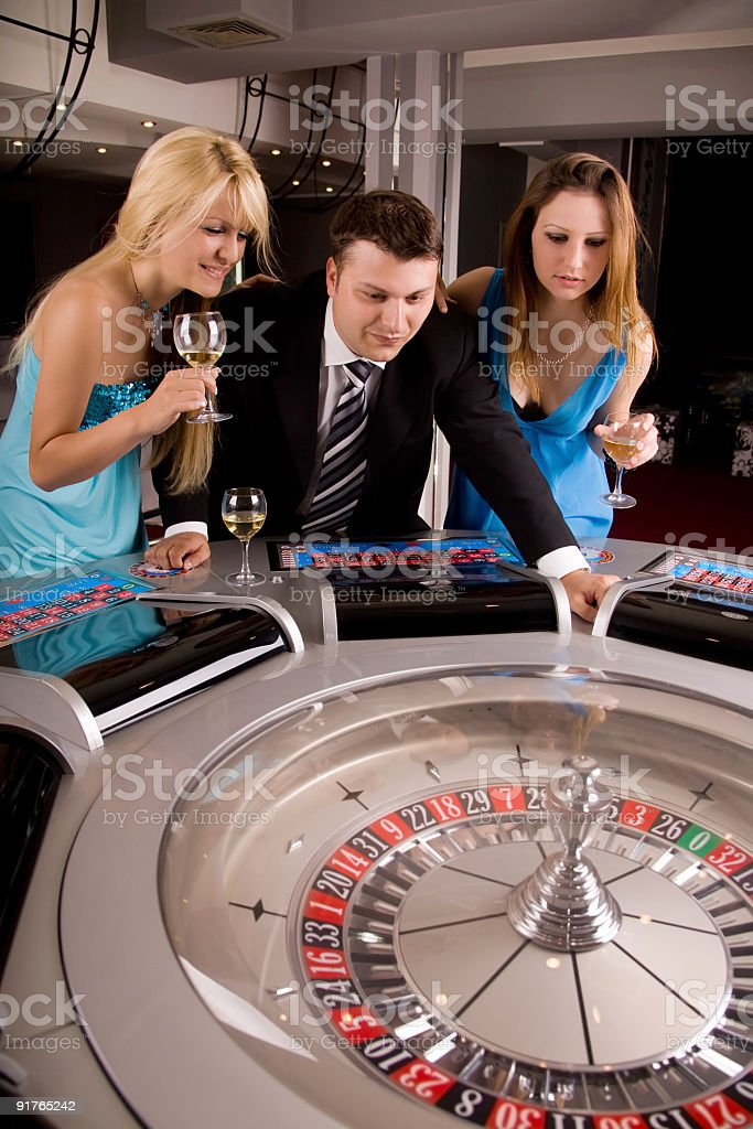 Gambling at the casino royalty-free stock photo