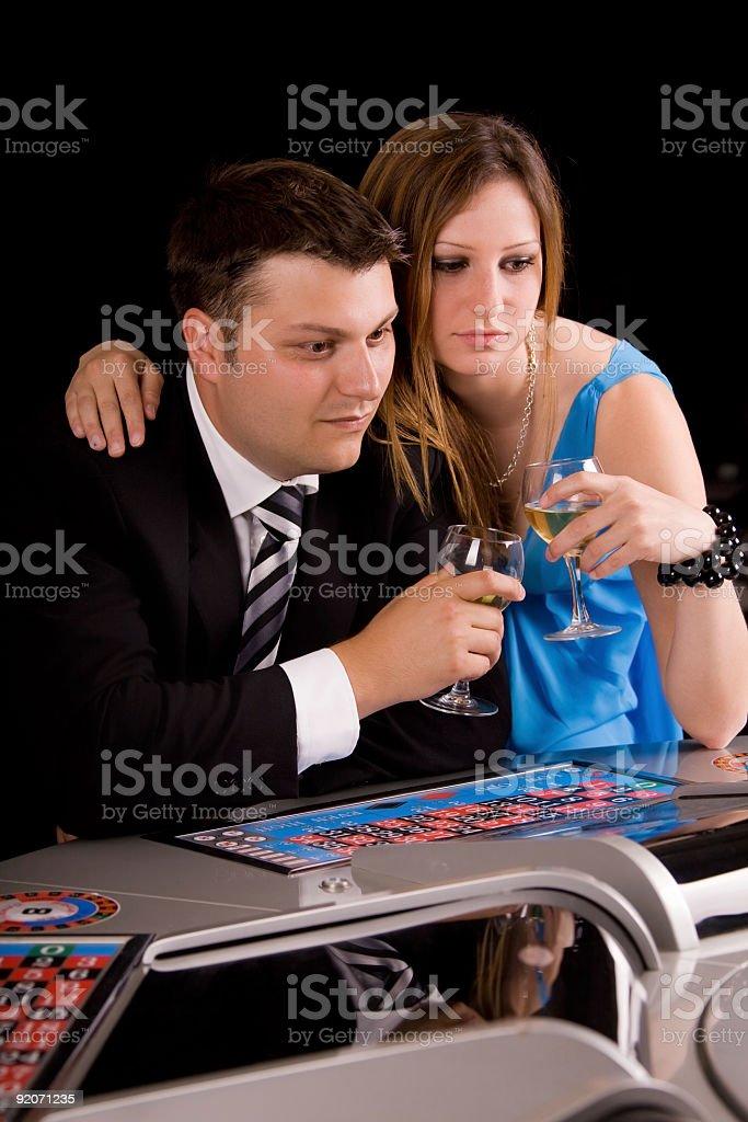 Gambling at the casino royalty-free stock photo