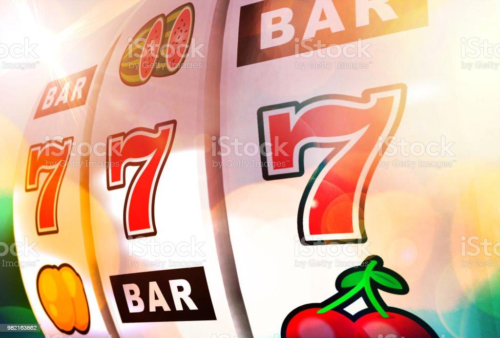 Gambling at the casino stock photo