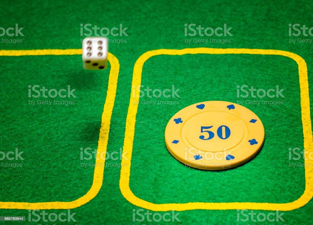 Gambling board games royaltyfri bildbanksbilder
