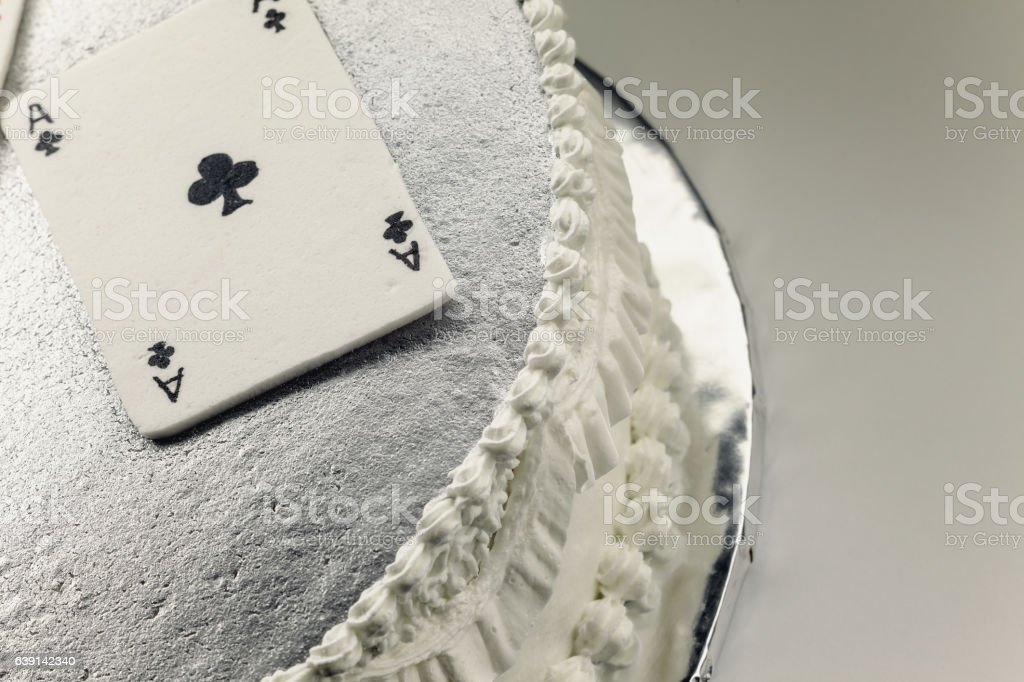 Gambling Cards Made of Fondant stock photo