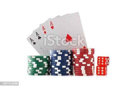 Poker - Card Game, White Background, Casino, Ace
