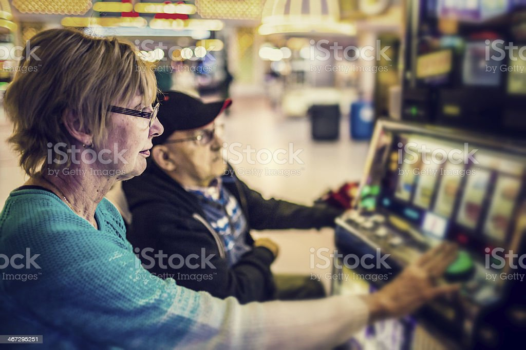 Gambling Couple stock photo