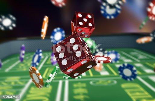 istock gambling, craps game 525032572