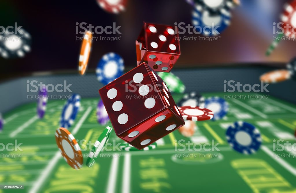 gambling, craps game stock photo