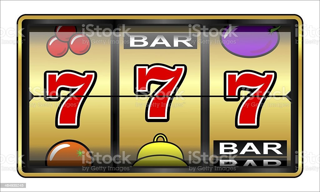 Gambling illustration 777 stock photo