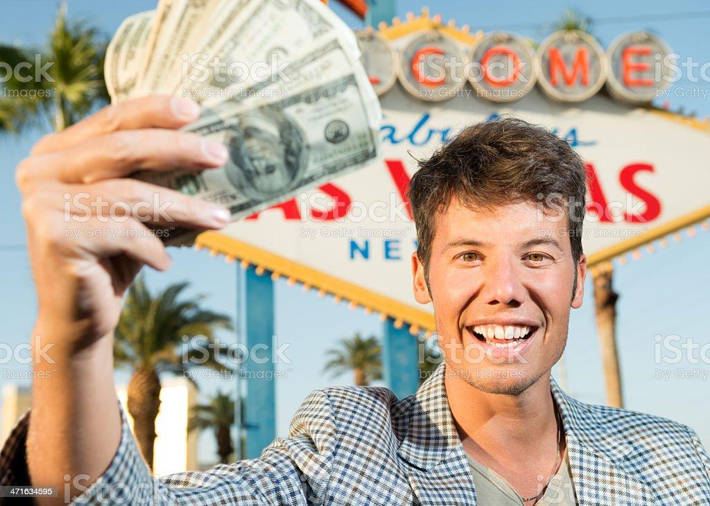 Gambling in Vegas royalty-free stock photo