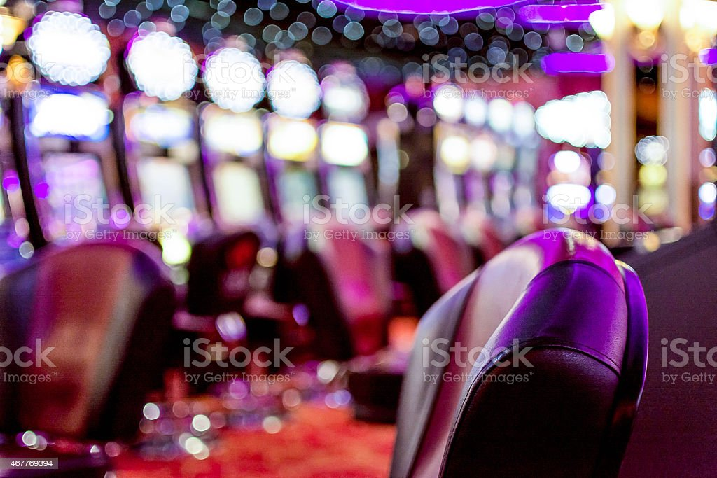 Gambling machine inside of casino stock photo