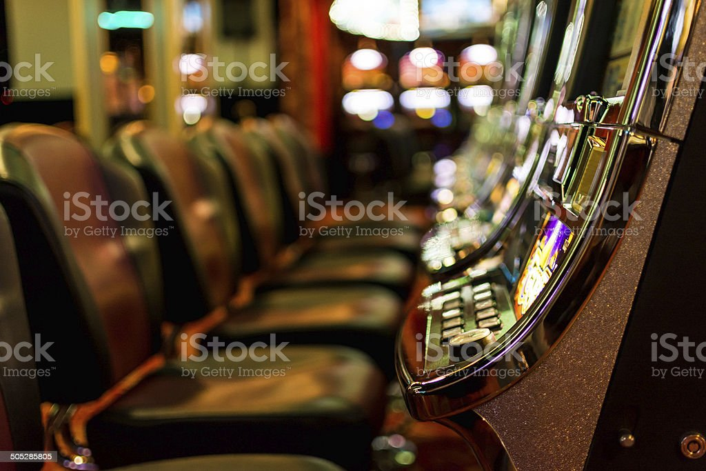 Gambling machines stock photo