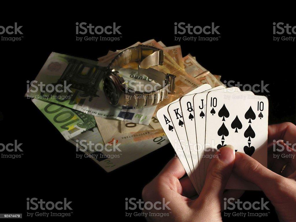 Um Geld spielen Lizenzfreies stock-foto