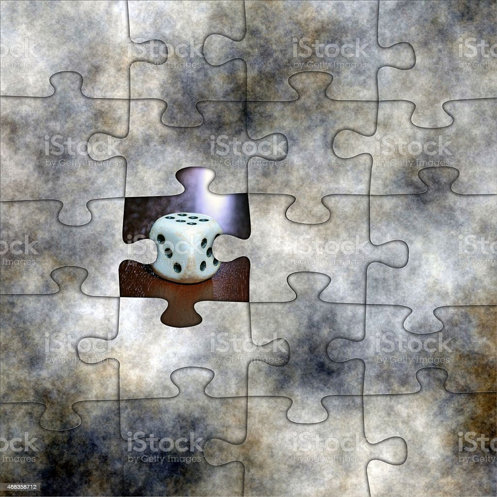 Gambling puzzle concept royalty-free stock photo