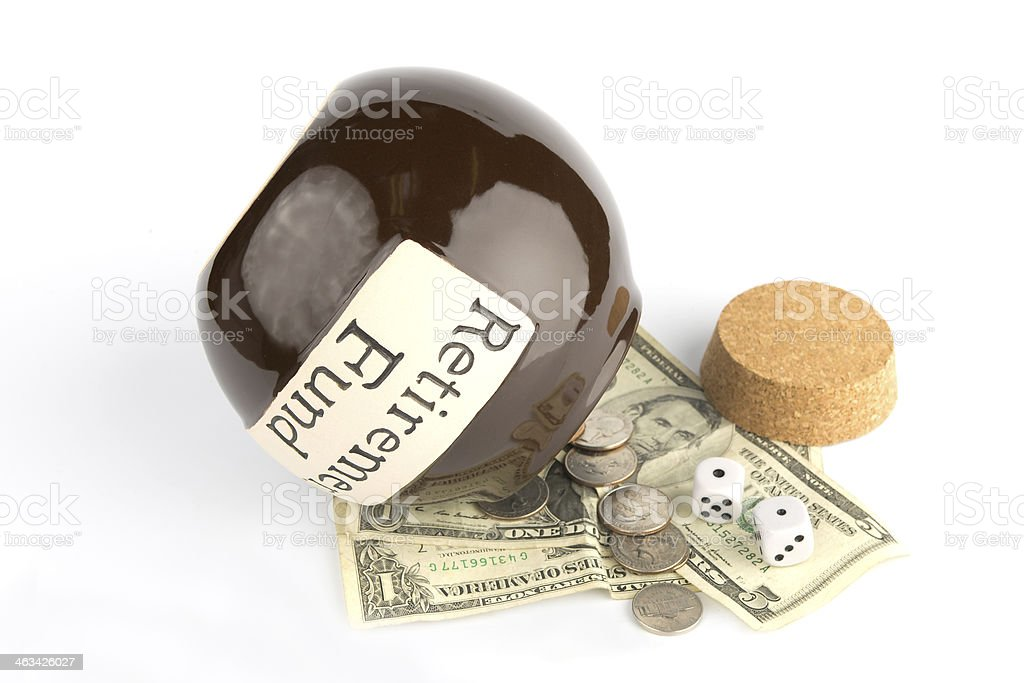 Gambling Retirement Savings royalty-free stock photo