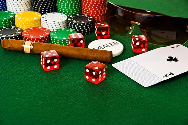 Gambling Set stock photo