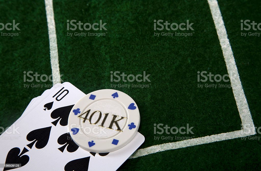 Gambling with your retirement royalty-free stock photo