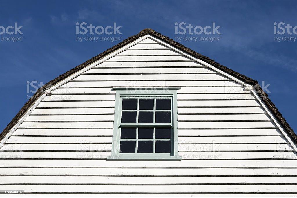 Gambrel gable stock photo