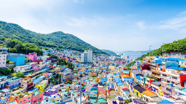 Gamcheon Culture Village,Busan(Pusan), South Korea stock photo