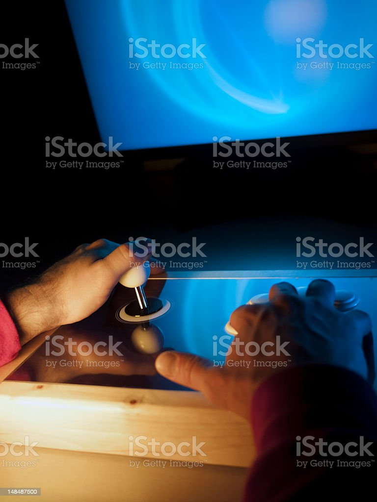 Game addict royalty-free stock photo