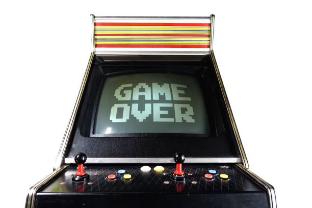 Game Arcade Game Over writing - foto stock