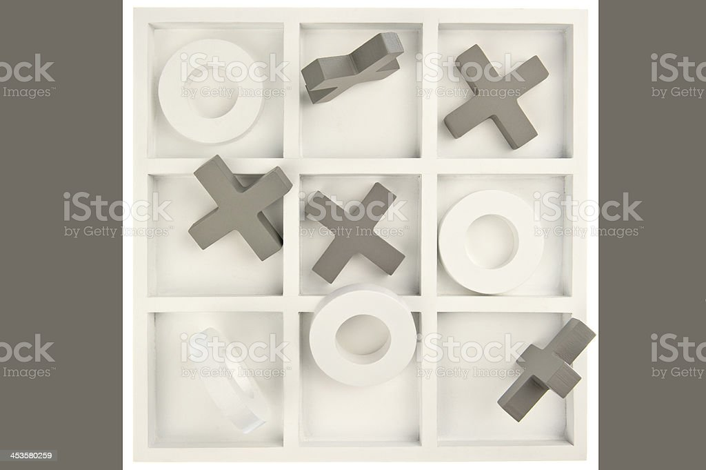 Game board with mixed stones isolated royalty-free stock photo