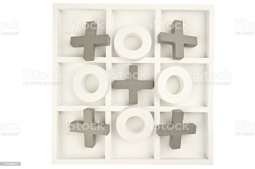 Game board with stones isolated royalty-free stock photo