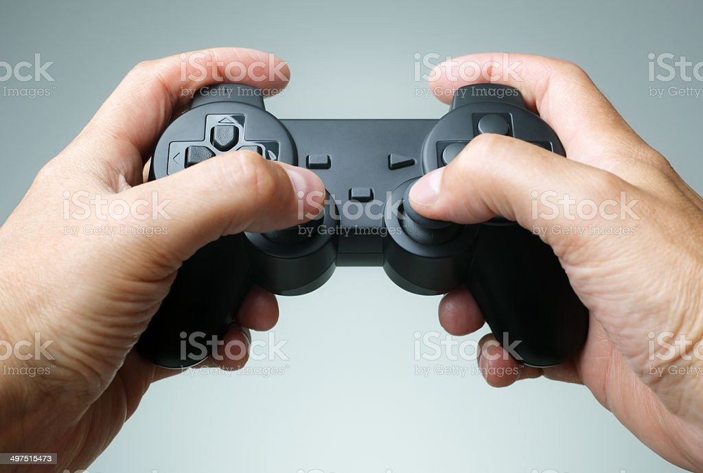 Game console controller stock photo