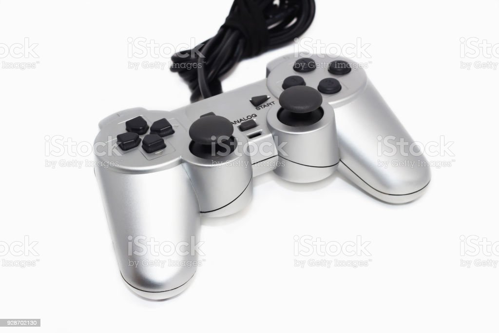 Game controller isolated on a white background stock photo