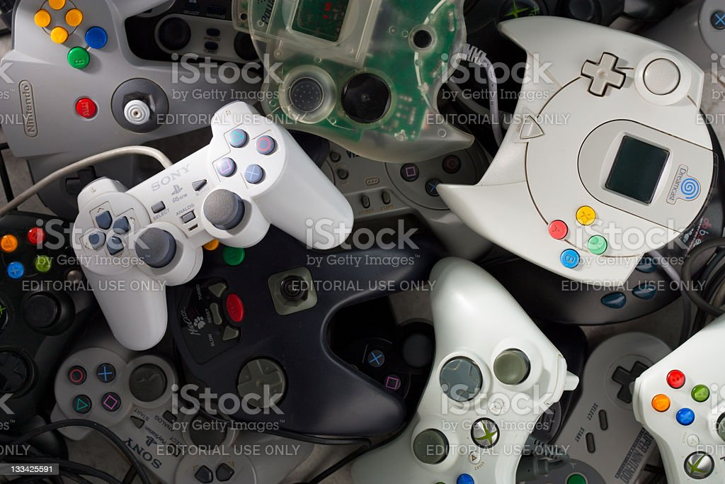 Game Controllers royalty-free stock photo