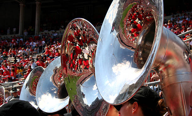 Game Day Reflections Excitement of game day reflected in tubas ncaa college football stock pictures, royalty-free photos & images