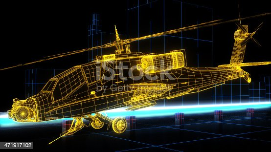istock Game Design futuristic helicopter 471917102