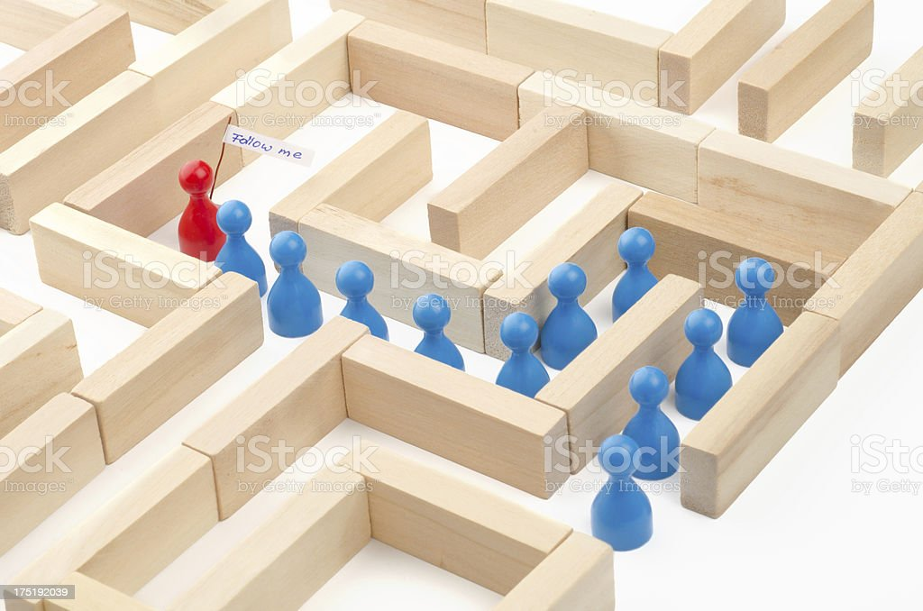 game figurines in labyrinth - story of 7 photos 2/7 royalty-free stock photo