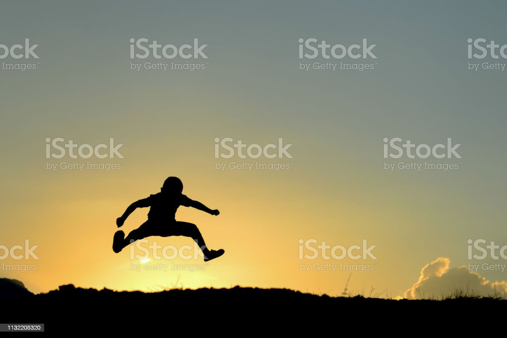 Game for children, fun and enthusiasm stock photo
