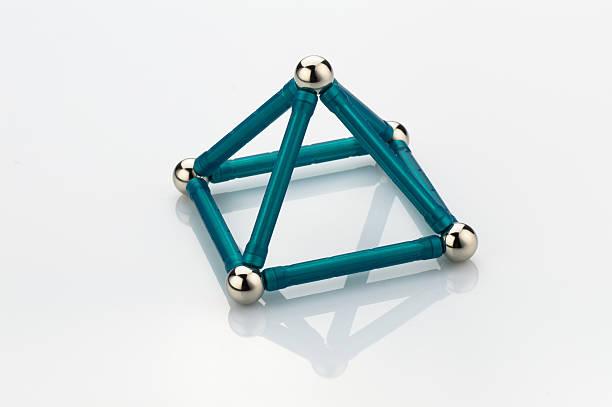 Gioco le costruzioni geometriche - foto stock