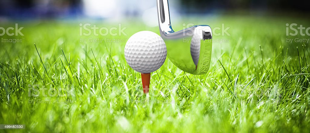Game in a golf stock photo
