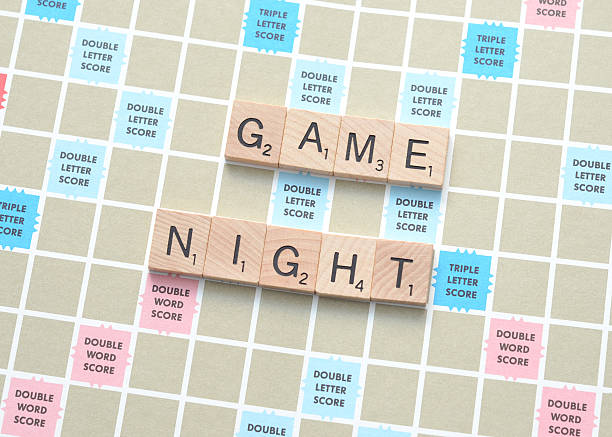 game night - word game stock pictures, royalty-free photos & images