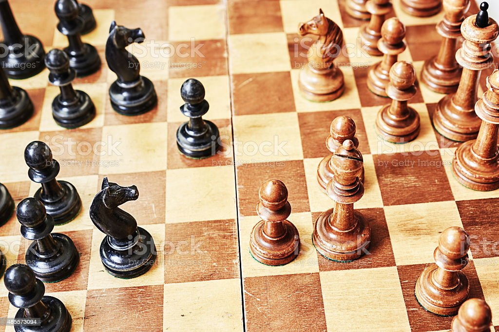 Game of chess stock photo