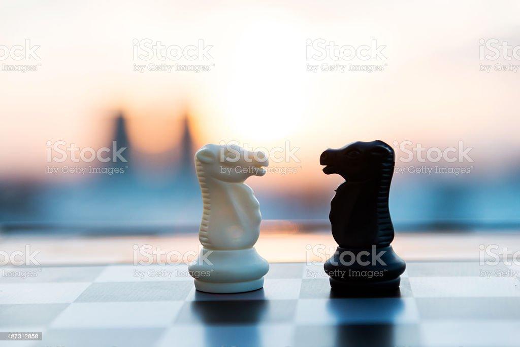Jeu d'échecs - Photo de 2015 libre de droits