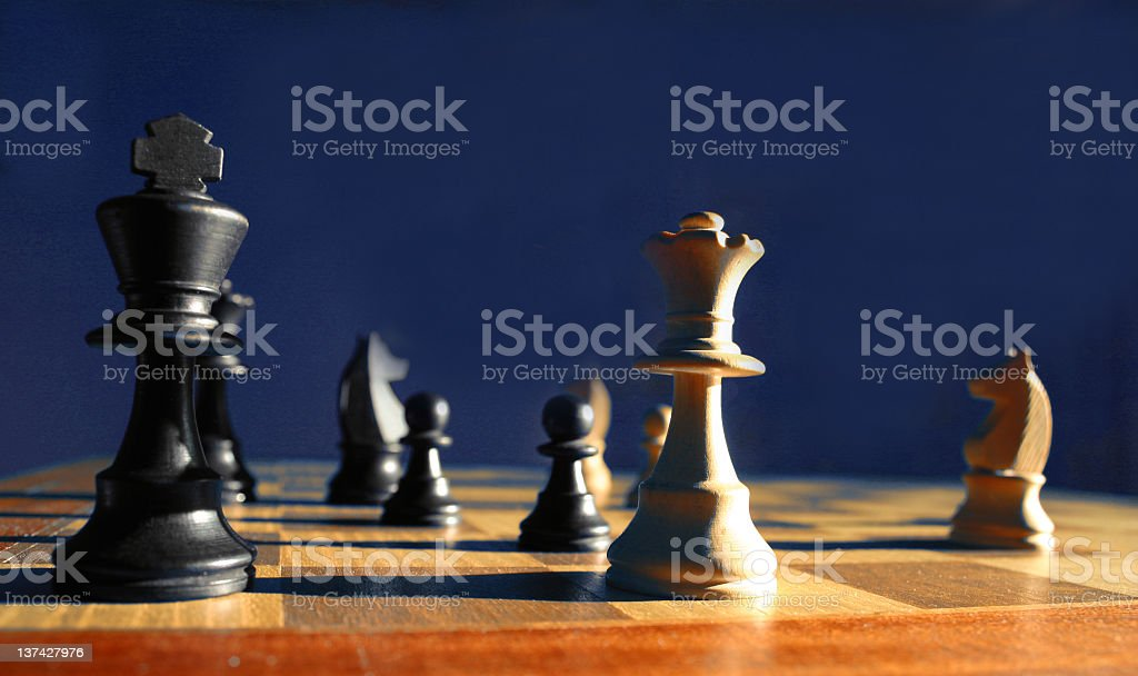 Game of chess someone has checkmated stock photo