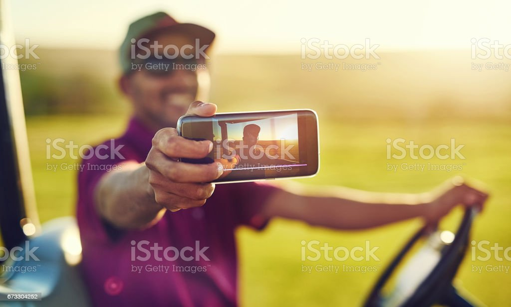 Game of golf by myselfie royalty-free stock photo