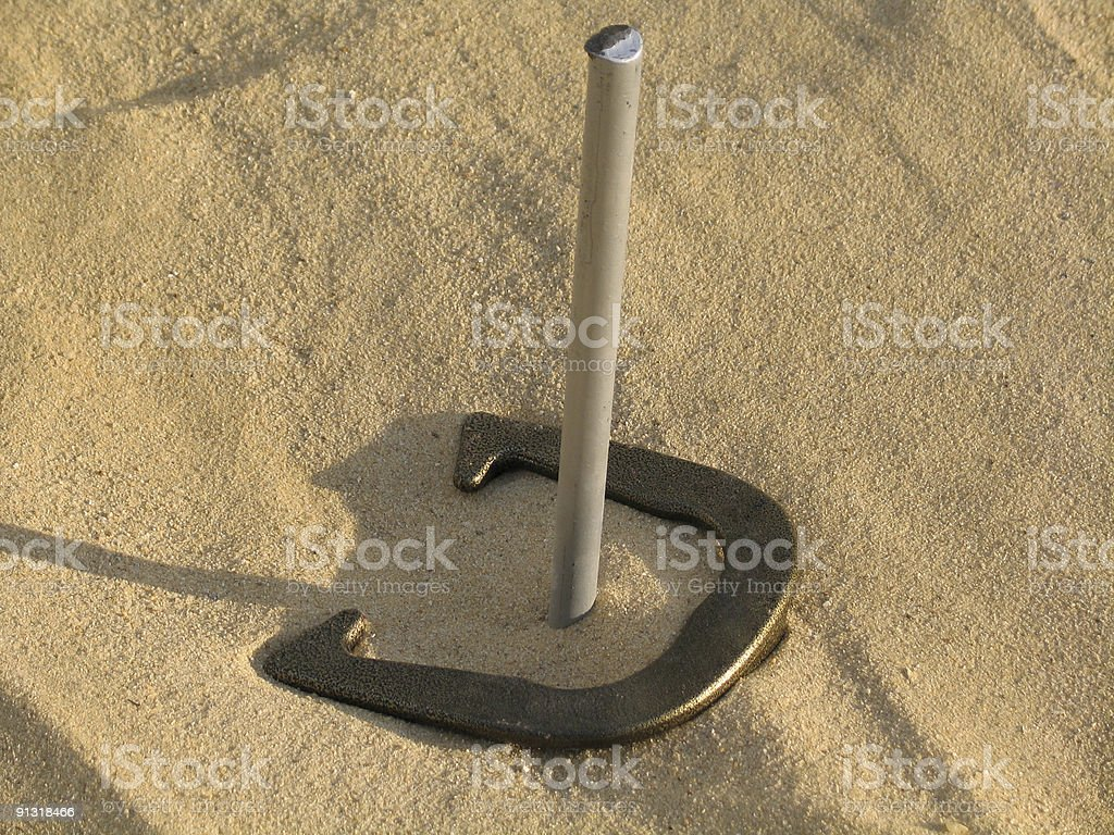 Game of Horseshoes, Recreational Pursuit stock photo
