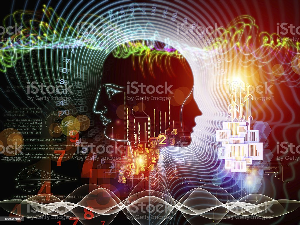 Game of Human Mind royalty-free stock photo