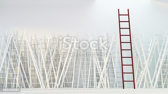 1154986671 istock photo Game of Ladder 483459082