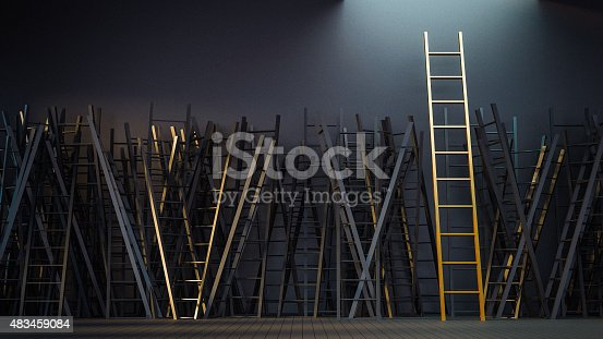 1154986671 istock photo Game of Ladder 483459084