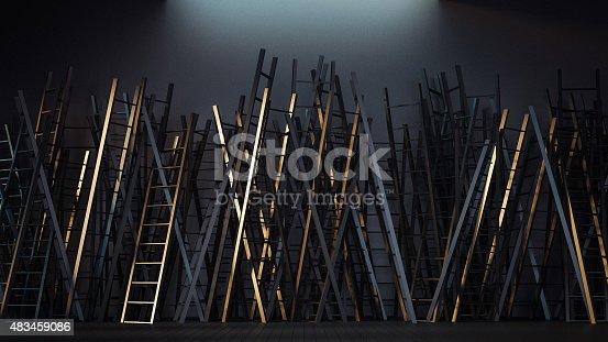 1154986671 istock photo Game of Ladder 483459086