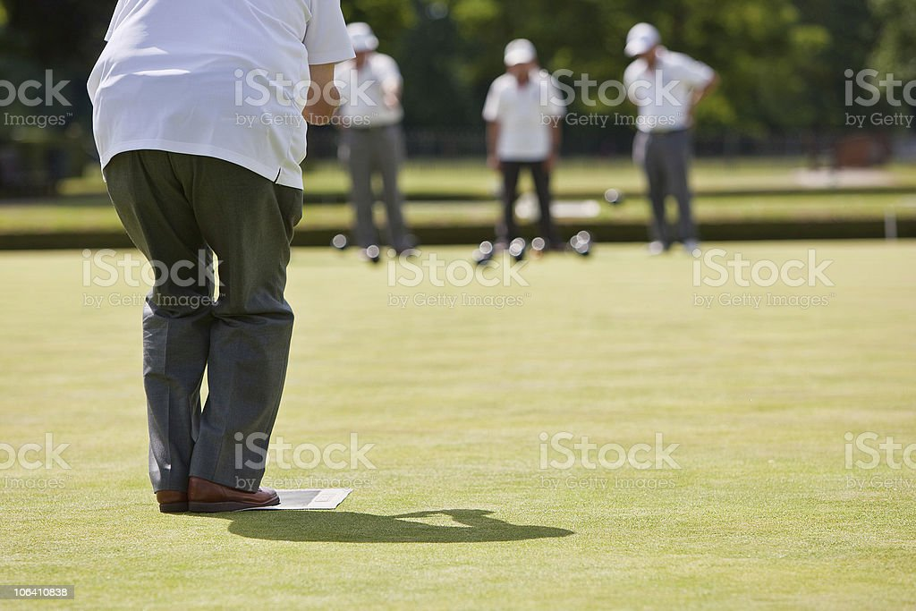 Game of Lawn Bowls stock photo