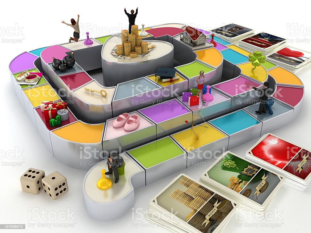 Game of life stock photo