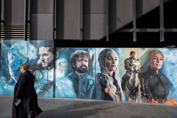 Game of Thrones advertisement in Melbourne stock photo
